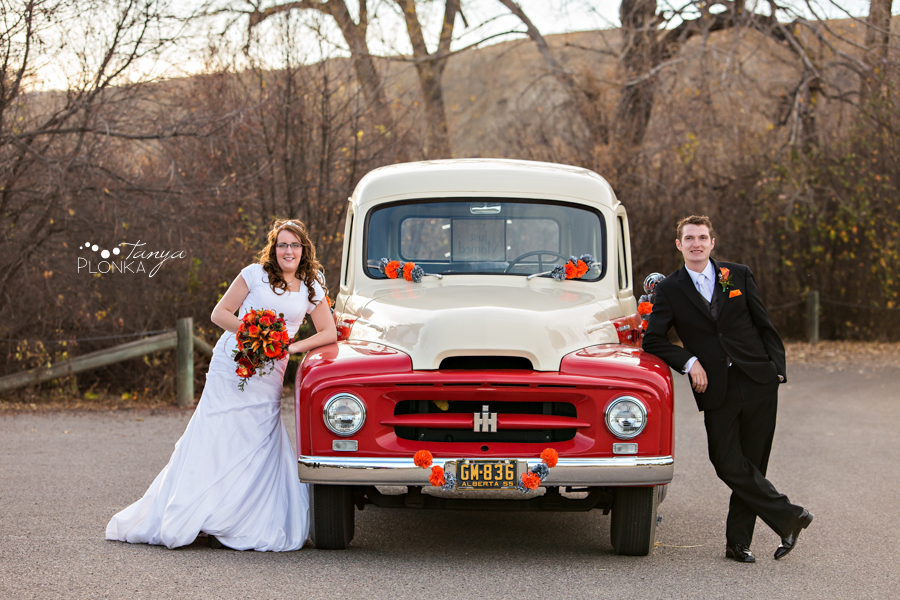 Trevor & Andrea, late autumn Lethbridge wedding