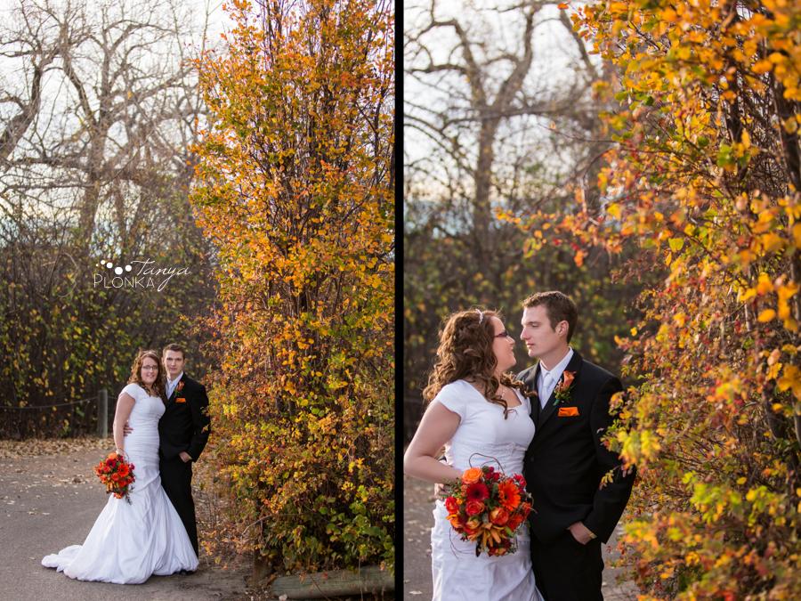Trevor & Andrea, Lethbridge late autumn wedding