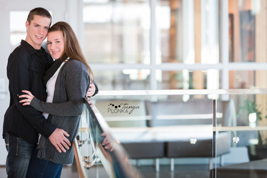 CASA winter engagement photos