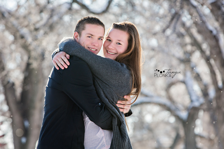 Galt Gardens winter engagement photos