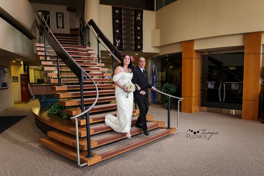 Norman & Erin, Lethbridge City Hall elopement photos