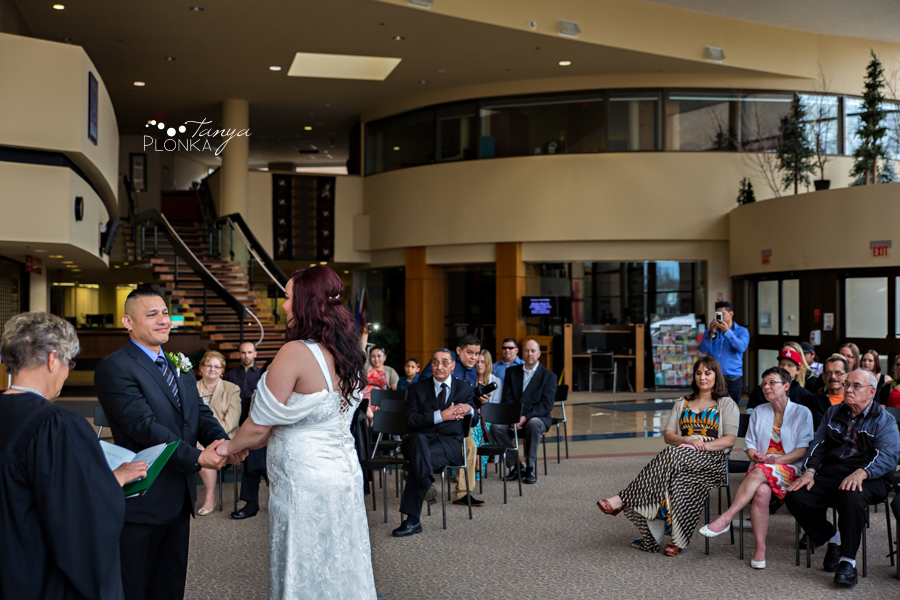 Norman & Erin, Lethbridge City Hall small wedding photography