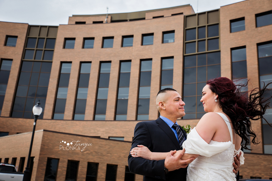 Norman & Erin, Lethbridge City Hall wedding photos