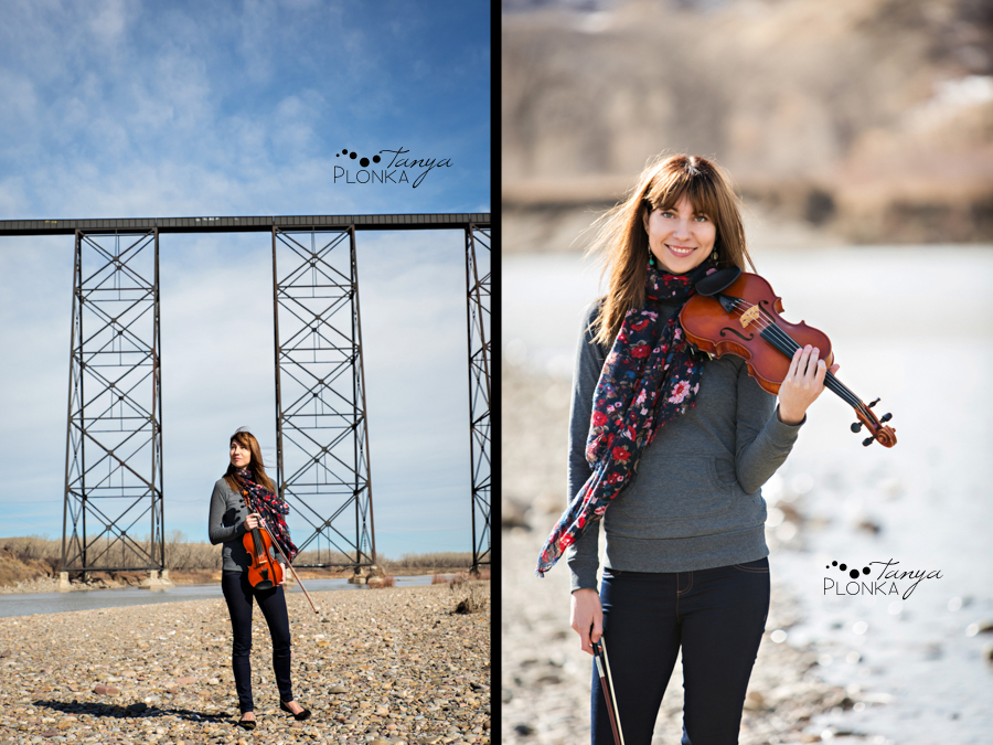 Lethbridge Indian Battle Park violin portraits