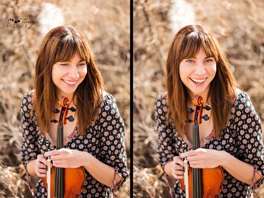 Lethbridge violin player photoshoot