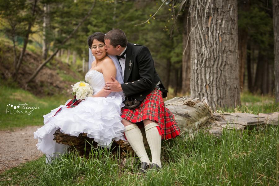 Richard & Crystal, Crowsnest Pass Scottish wedding