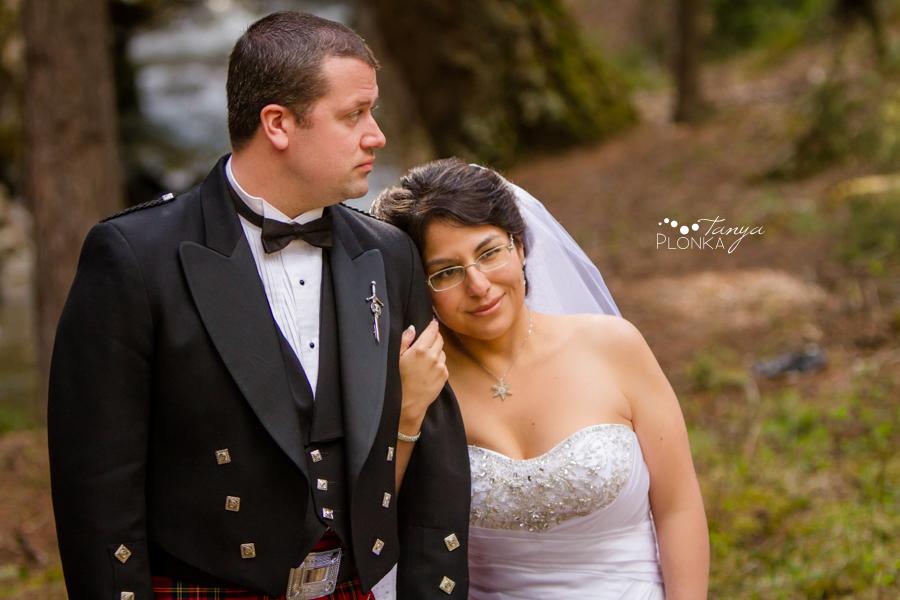 Richard & Crystal, Crowsnest Pass spring wedding