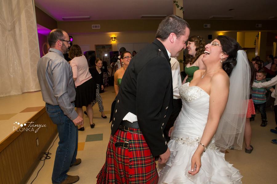 Richard & Crystal, Crowsnest Pass Scottish spring wedding