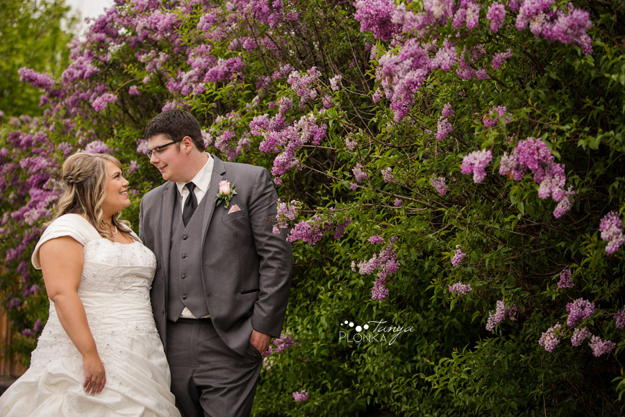 Cale & Kirsten, Lethbridge spring wedding photography with lilacs