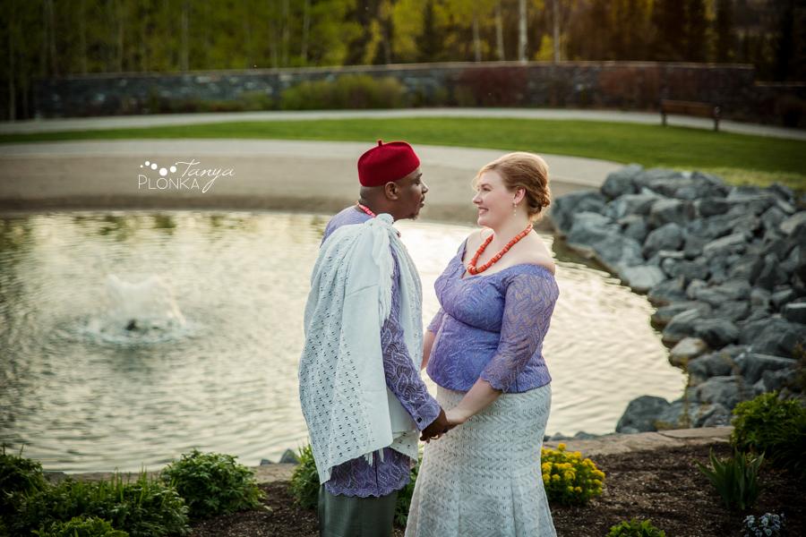 Cyndy & Austin, Calgary spring wedding photography, Calgary Nigerian wedding photos