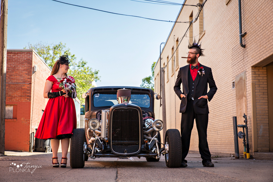 Tony & Kathleen, Lethbridge vintage pinup wedding