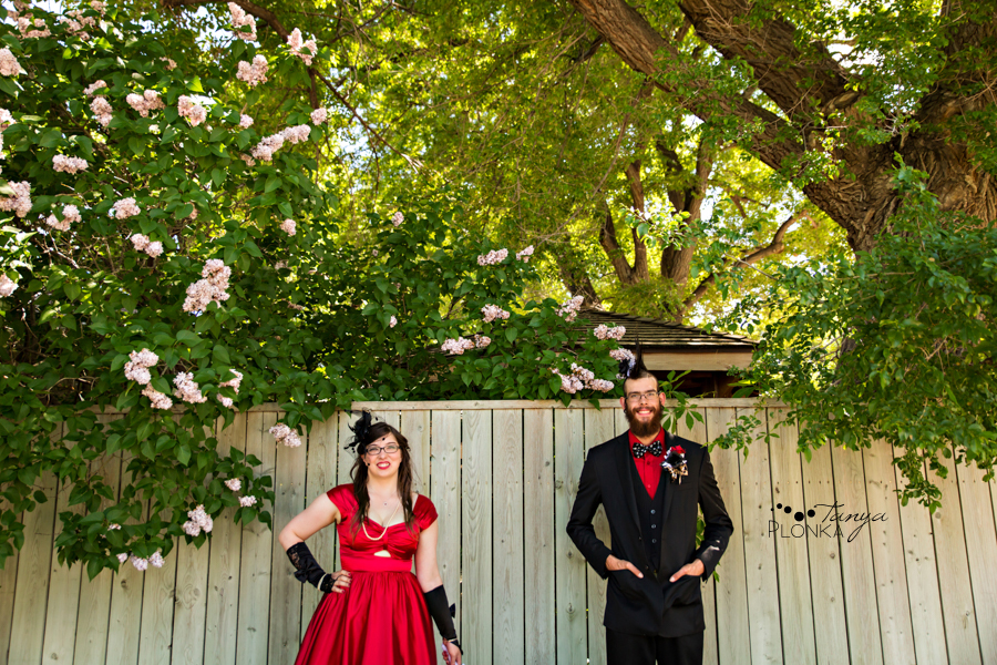 Tony & Kathleen, Lethbridge alternative vintage pinup wedding