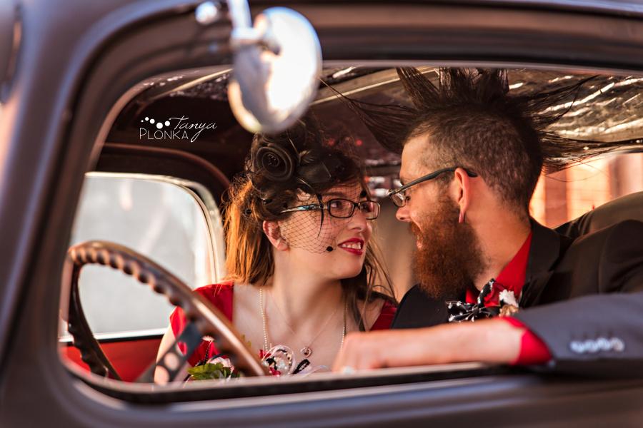 Tony & Kathleen, Lethbridge alternative vintage pinup wedding