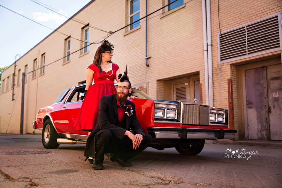Tony & Kathleen, Lethbridge classic car wedding