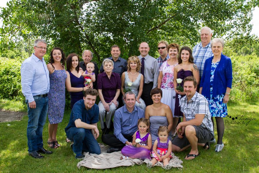 Tammy & Todd, Lethbridge summer wedding family photos