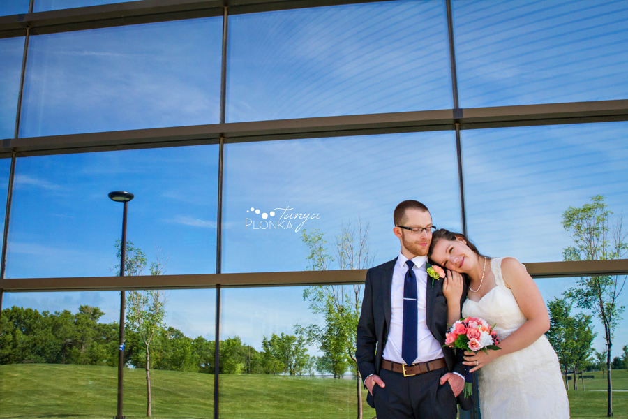 Scott and Katie, University of Lethbridge summer wedding photography