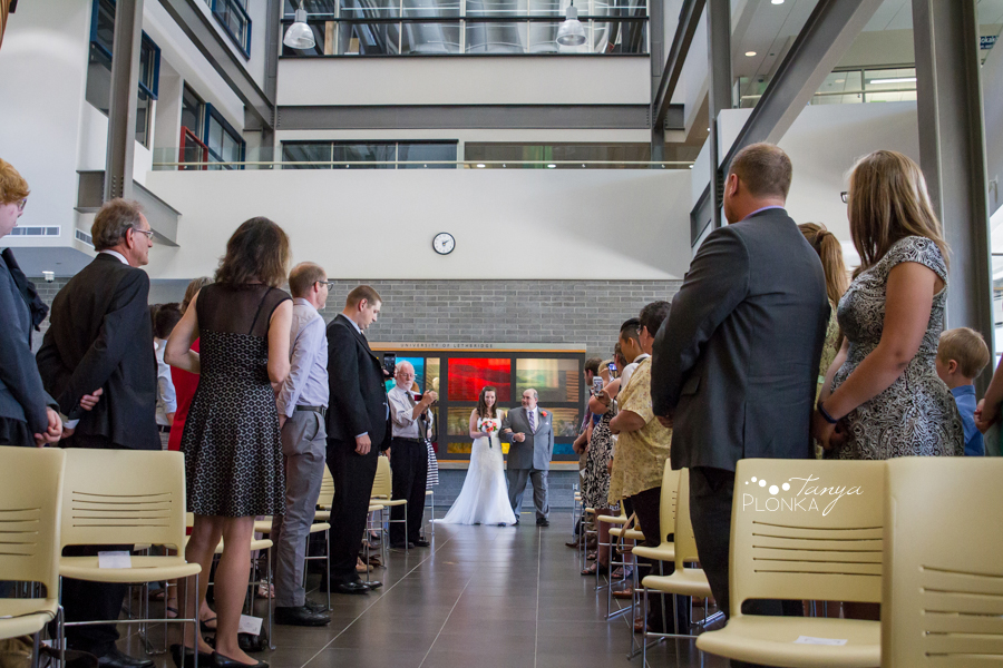 Scott and Katie, University of Lethbridge indoor summer wedding photos