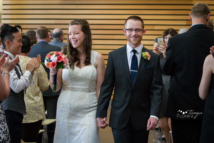 Scott and Katie, University of Lethbridge indoor summer wedding photos