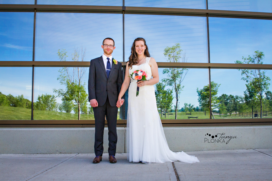 Scott and Katie, University of Lethbridge indoor summer wedding photography