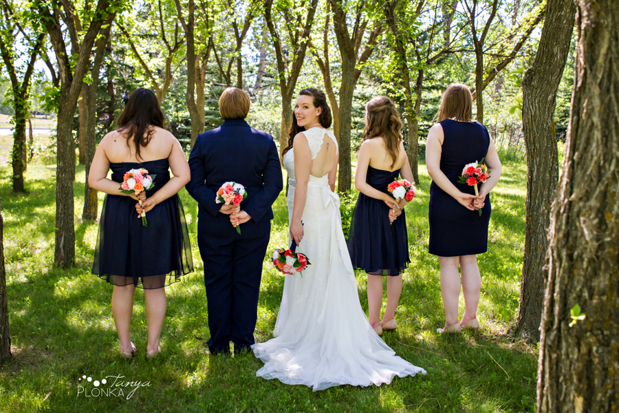 Scott and Katie, University of Lethbridge summer wedding photography