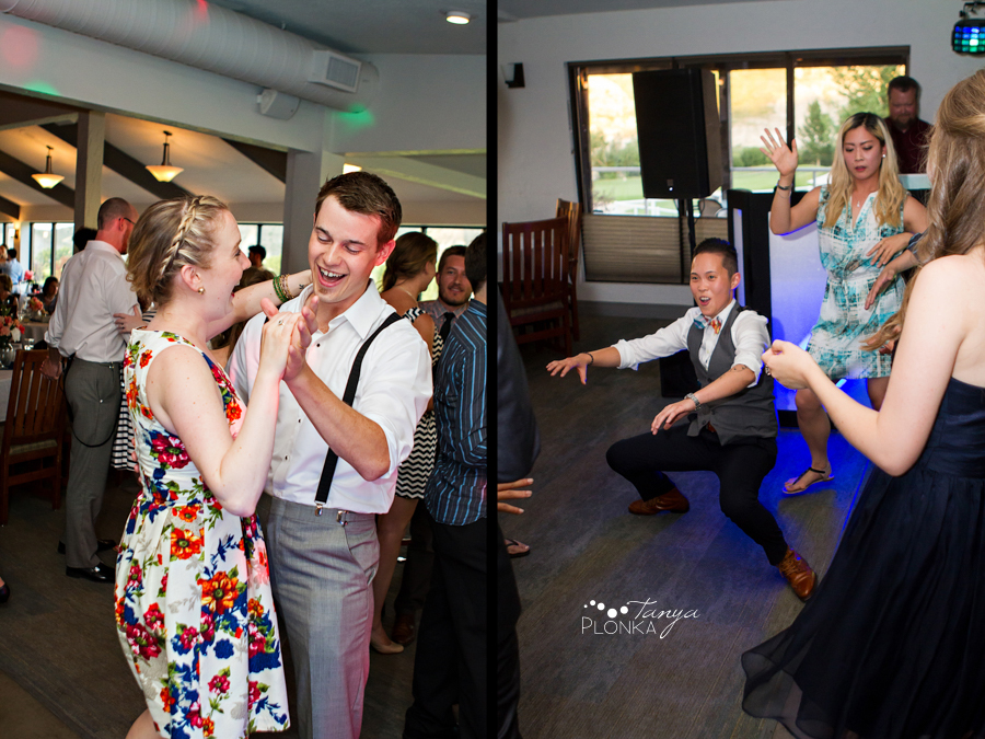 Scott and Katie, Paradise Canyon reception indoor summer wedding photography