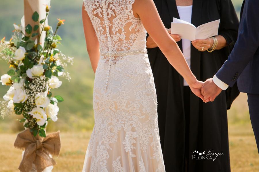 Andrew & Kristen, Galt Museum outdoor summer wedding ceremony