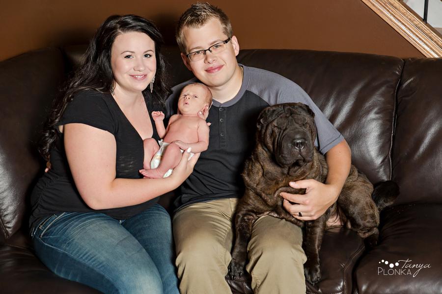Taber newborn family photography