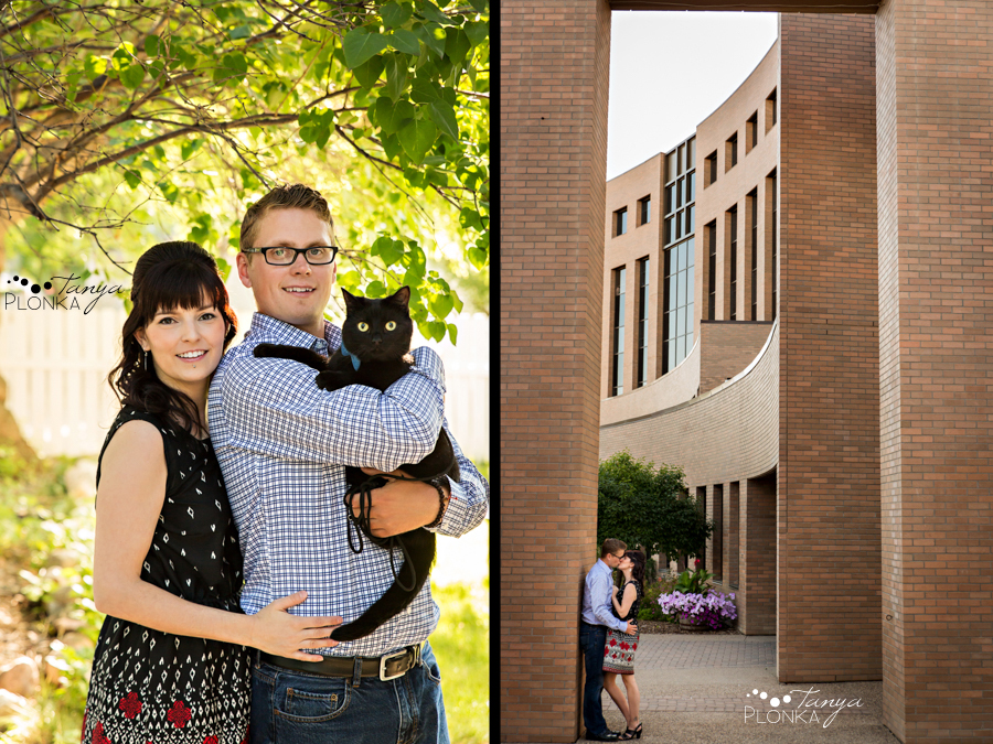 downtown Lethbridge summer engagement photography