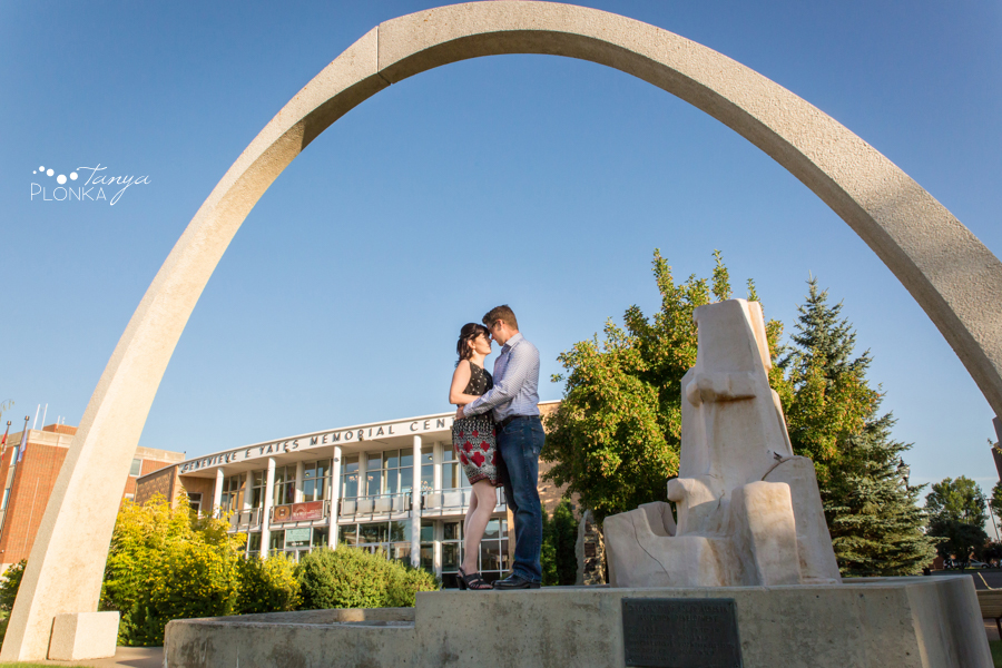 downtown Lethbridge summer engagement photos