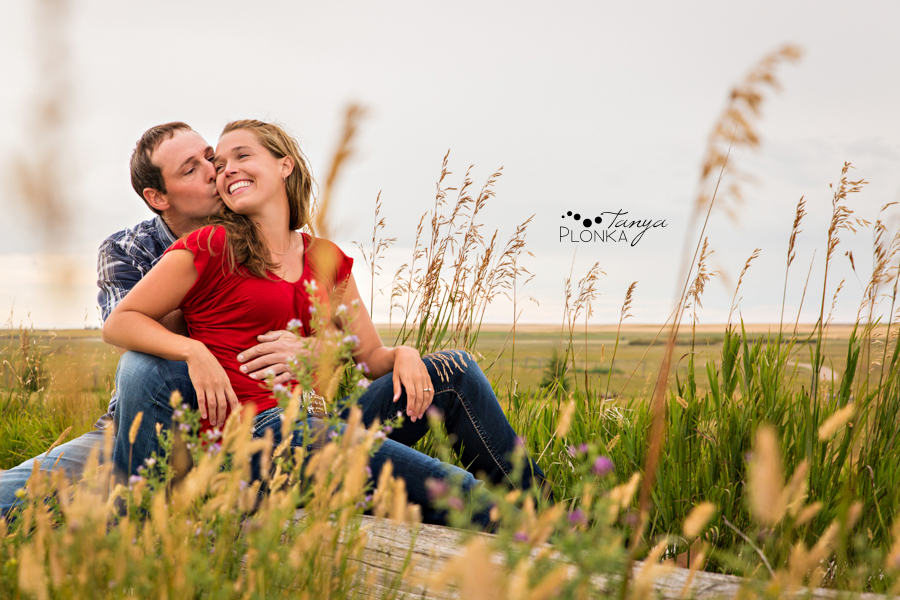 New Dayton farm engagement photography