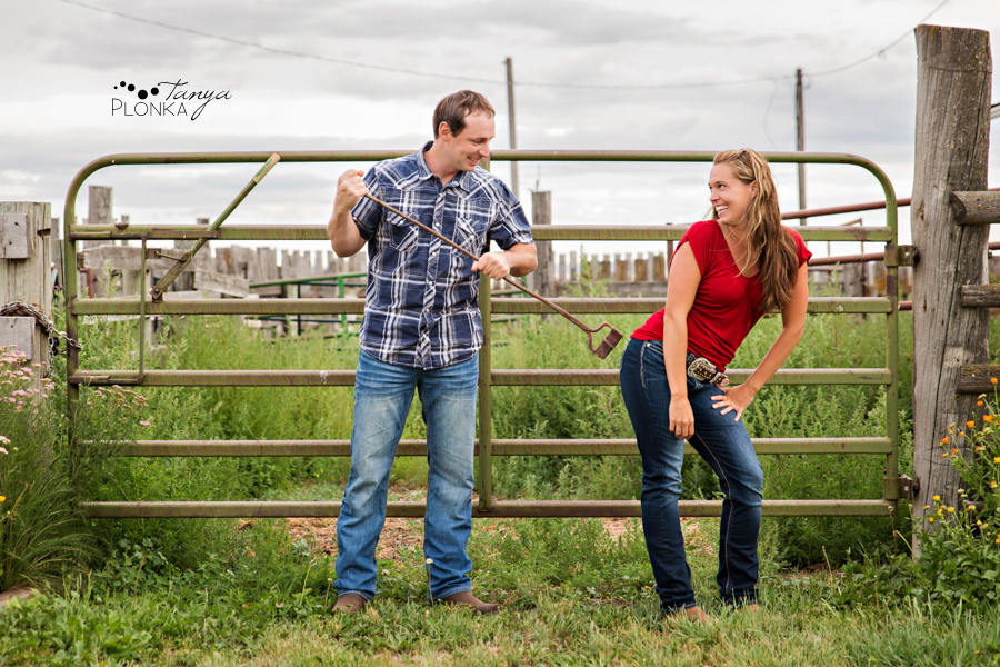 New Dayton farm engagement photos