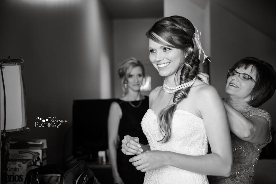 Garrett & Heather, Waterton Lakes Lodge wedding getting ready
