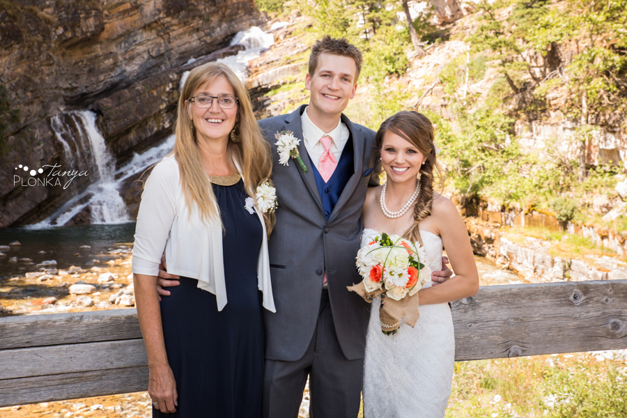 Garrett & Heather, Waterton Community Center outdoor wedding photos
