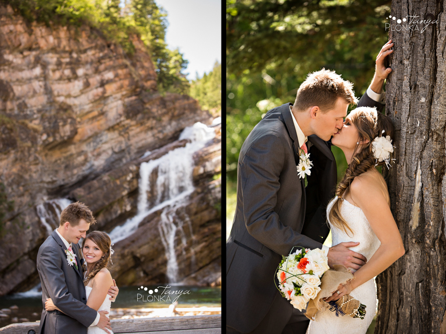 Garrett & Heather, Waterton Cameron Falls wedding photos
