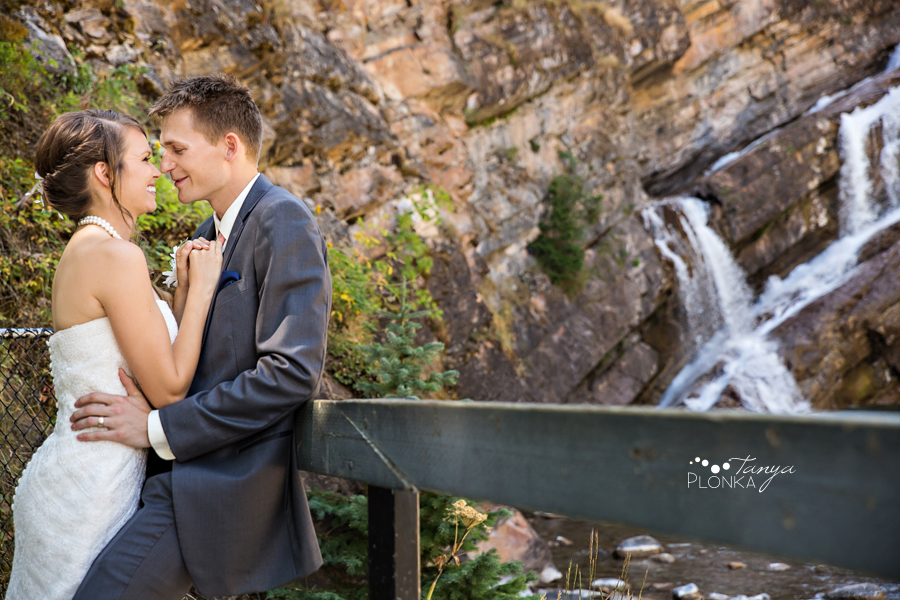 Garrett & Heather, Waterton Cameron Falls wedding photos
