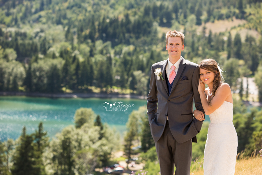 Garrett & Heather, Waterton Prince of Wales outdoor wedding photos