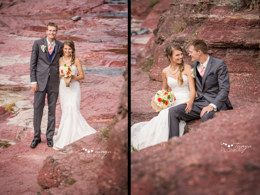 Garrett & Heather, Waterton Lakes Red Rock Canyon wedding photos