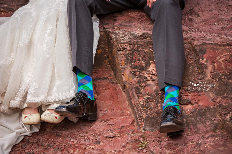 Garrett & Heather, Waterton Lakes Red Rock Canyon wedding photos