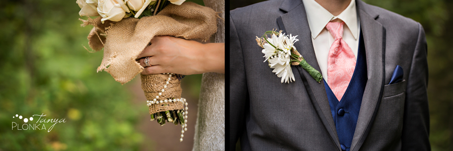 Garrett & Heather, Waterton Community Center outdoor wedding photos