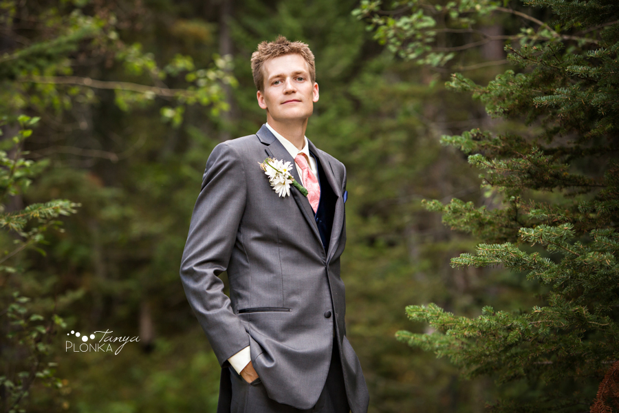 Garrett & Heather, Waterton Lakes Park Community Center outdoor wedding photography