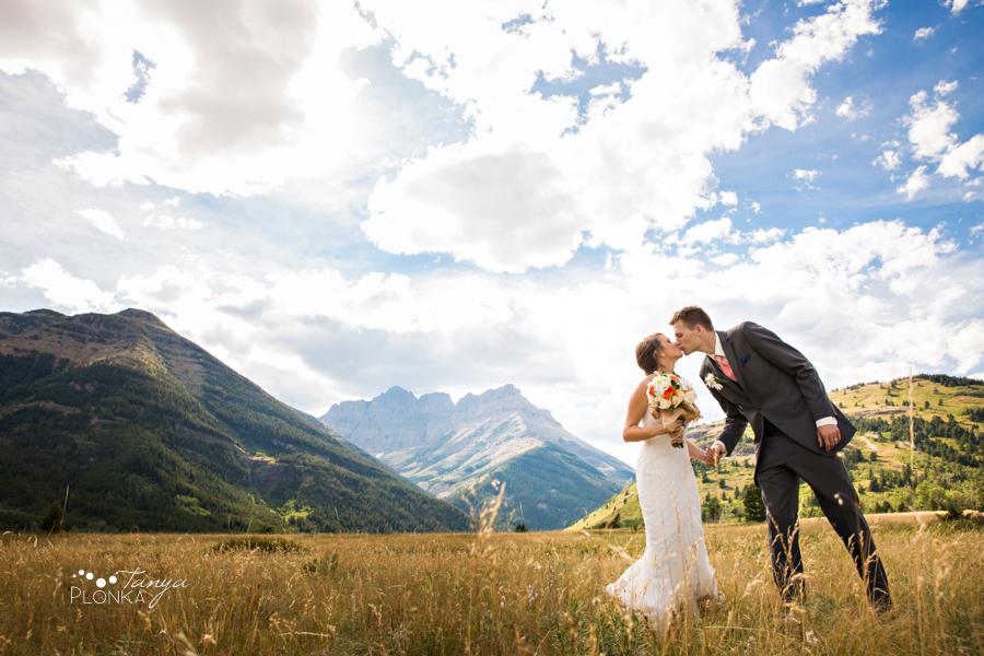 Garrett & Heather, Waterton Community Center outdoor wedding
