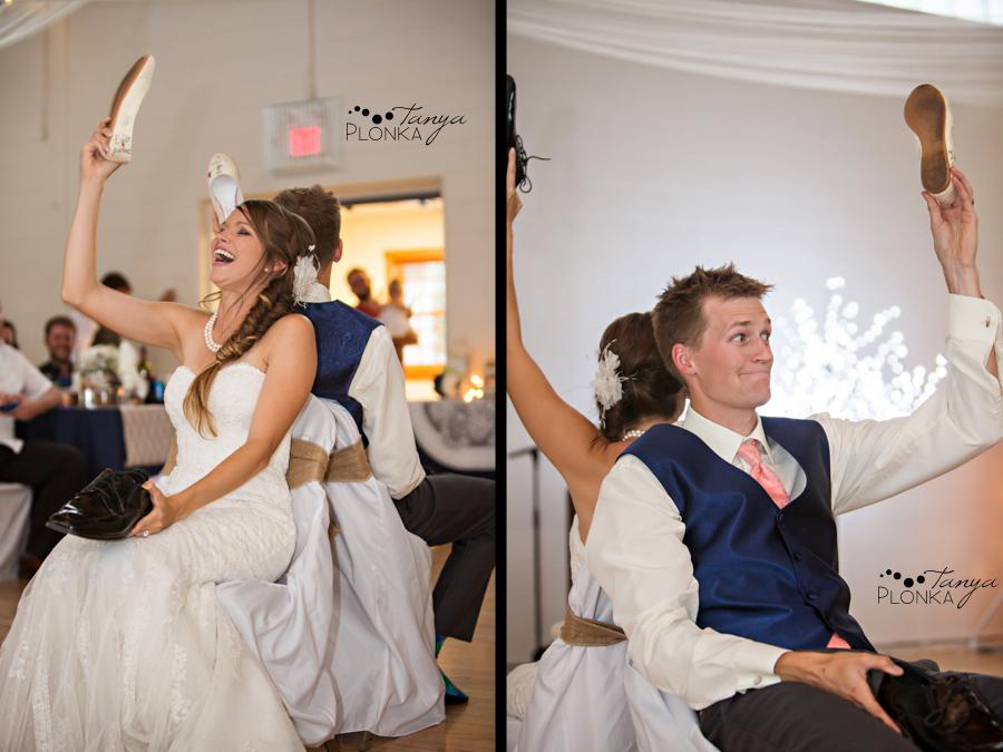 Garrett & Heather, Waterton Community Center outdoor wedding reception