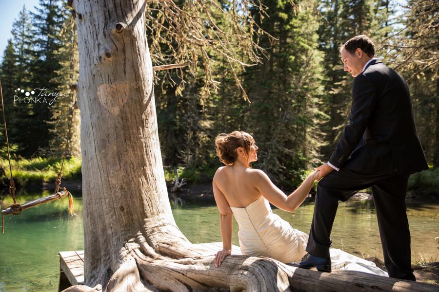 Shawn & Jori, Castle Mountain summer wedding photos