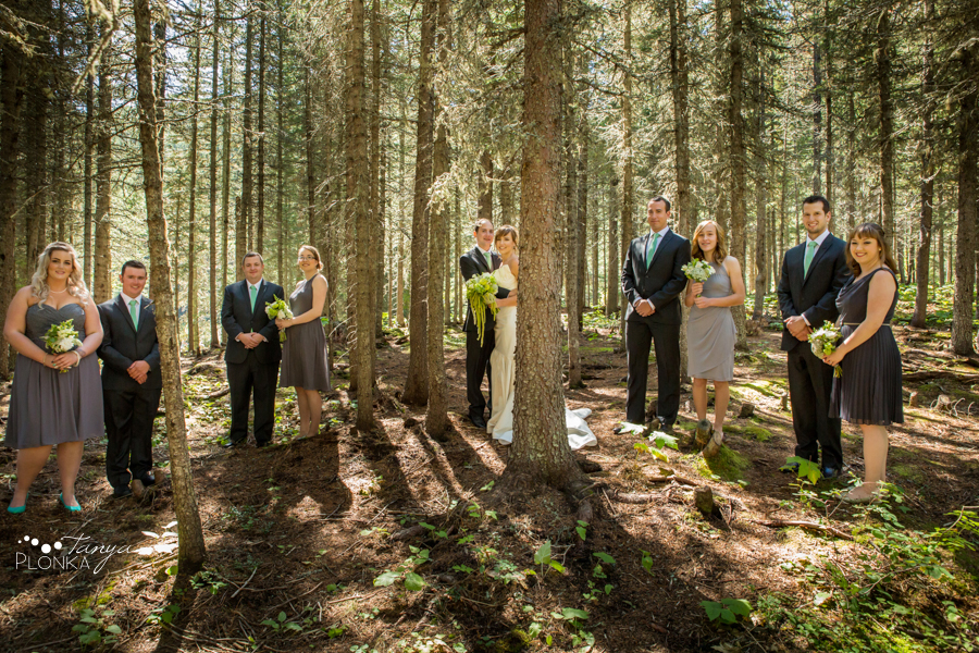 Shawn & Jori, Castle Mountain summer wedding photography