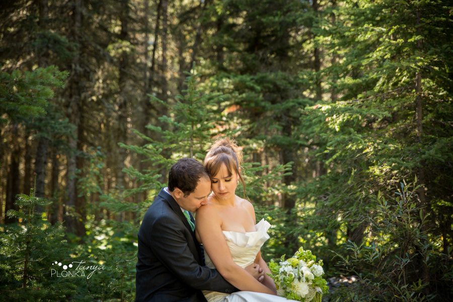Shawn & Jori, Castle Mountain summer wedding