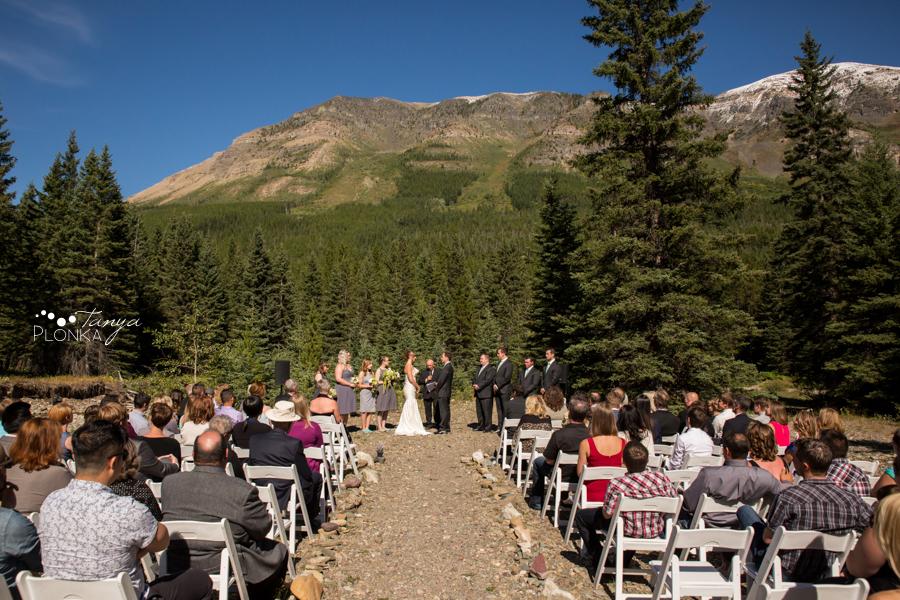 Shawn & Jori, Castle Mountain outdoor wedding ceremony photos