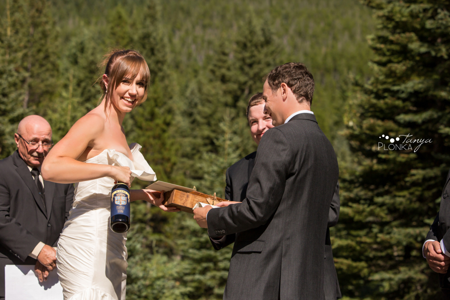 Shawn & Jori, Castle Mountain wedding photos
