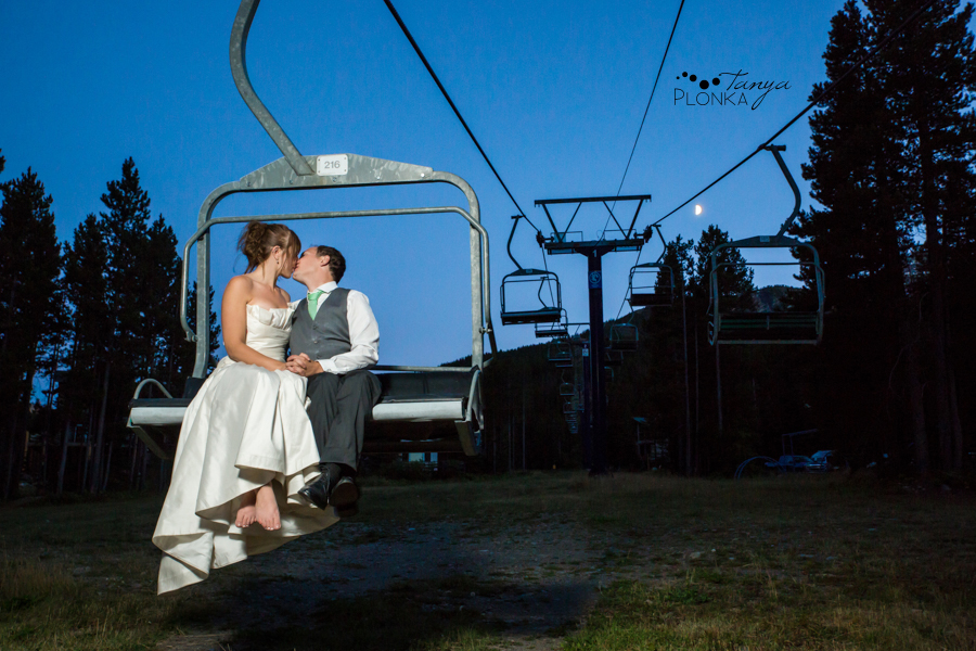 Shawn & Jori, Castle Mountain night time wedding photography