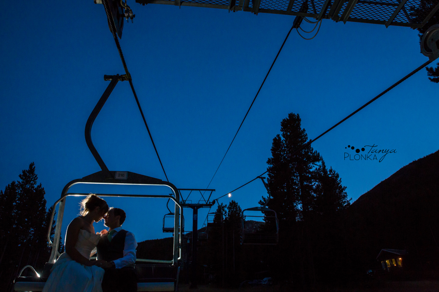 Shawn & Jori, Castle Mountain evening wedding photos