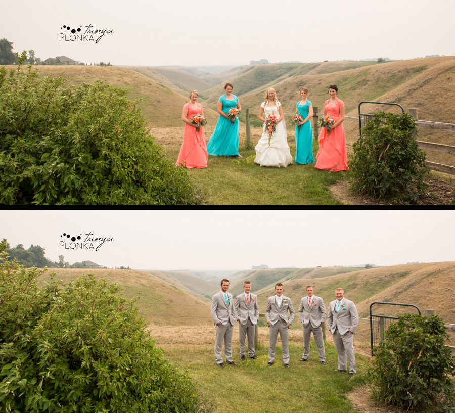 Jeremy & Emily, Picture Butte country wedding photos